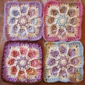 Winter Flower Granny Yarn Choices
