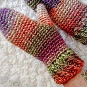 Twisted Mittens for the Crochet Mitten Drive!