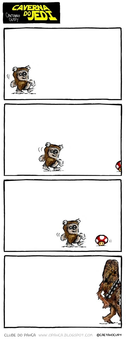 Level up an Ewok with a mushroom