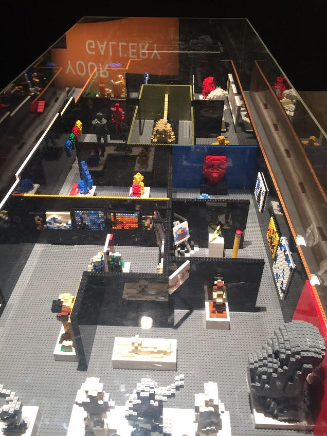 The gallery in Lego form