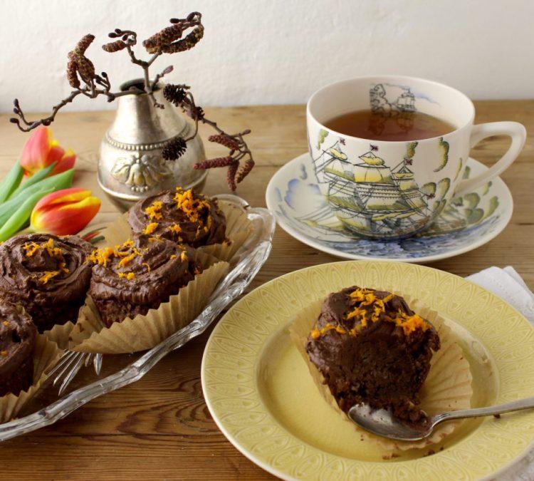 Chokolade muffins med appelsin - Mad med glød