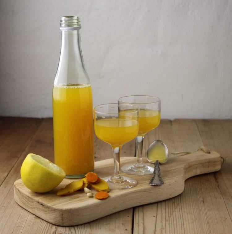Ingefær/gurkemeje drik - Mad med glød