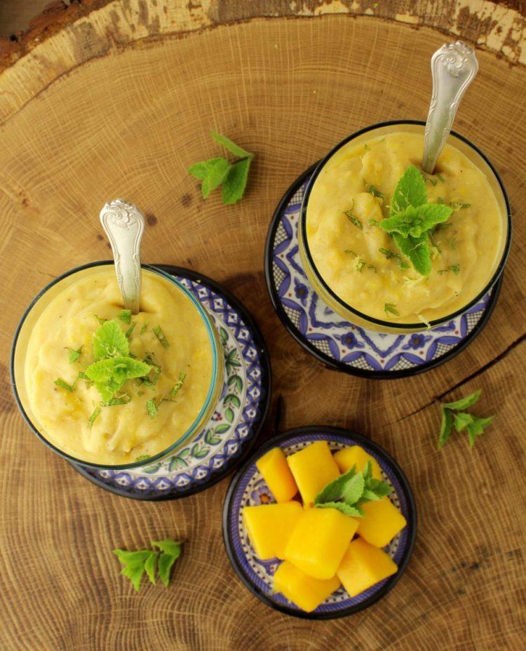 Nicecream med mango, kokosmælk og kikærter - Vegansk opskrift - Mad med glød