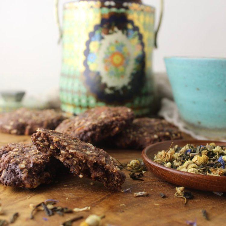 Chokolade cookies med mandler - Plantebaseret / Vegansk opskrift - Mad med glød