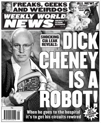 Weird robotic Cheney