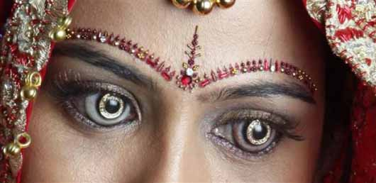 Weird Indian contact lenses