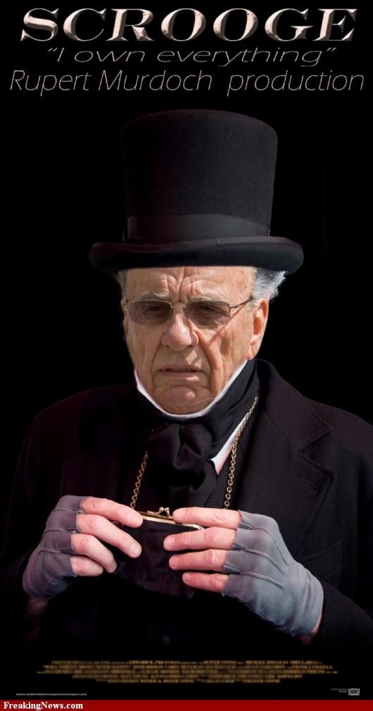 Murdoch as Scrooge