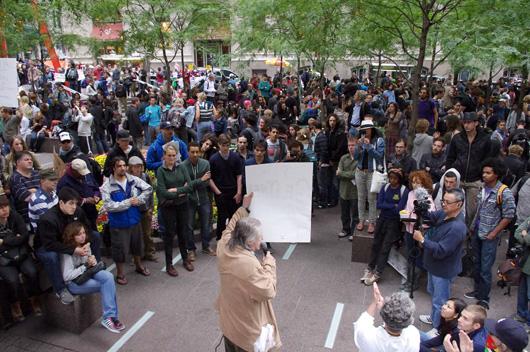 Occupy protestors in Zuccotti Park