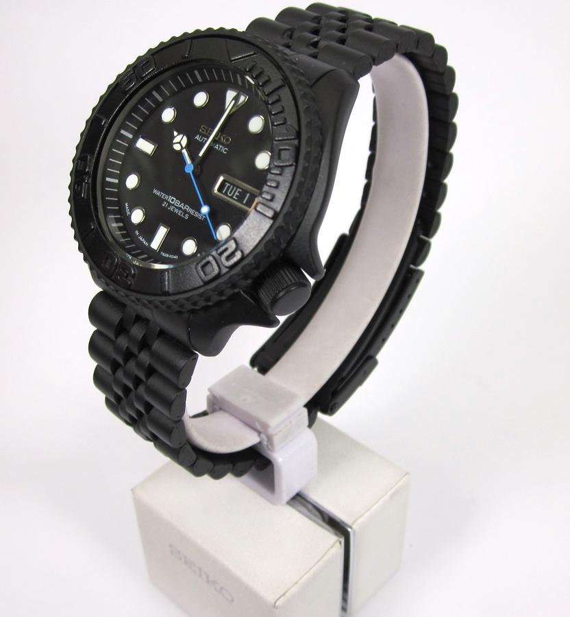 pre sale rolex homage skx007 7s26 mercedes hands black calendar  yacht-master bezel insert 10 bar dial cerakoted jubilee bracelet - Mad Mod  World