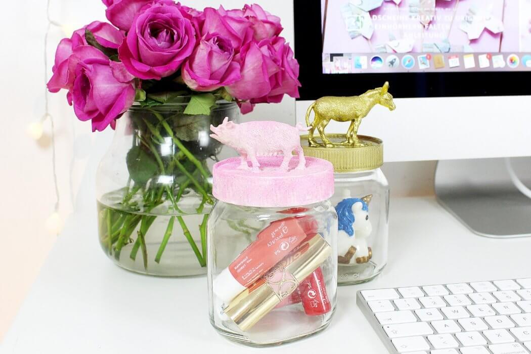 DIY Vorratsgläser selber machen – Leere Nutella Gläser stylish upcyceln!