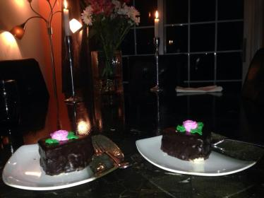 Valentine's Day, chocolate cake, without debt