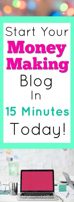 Start A Blog | Make Money Blogging | Work From Home | Side Hustle via @MadMoneyMonster