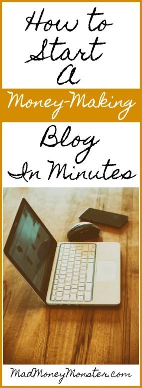 Start A Blog | Work From Home | Earn Money Blogging | Side Hustle | Make Money Blogging via @MadMoneyMonster