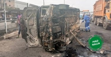 The car exploded on the third mainland bridge