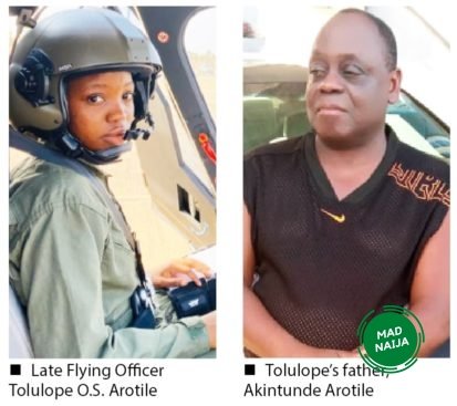 My daughter spoke to me 4 hrs before her death — Father of late NAF pilot