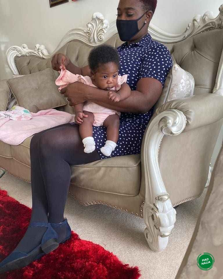 Mercy Johnson and her daughter, Divine