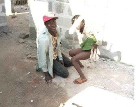 PHOTOS: Security Man Caught in The Act With an 8yrs Old Girl in an Uncompleted Building in Delta