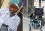 Heart Touching Moment thieves steal a crippled woman's wheel chair (photos)