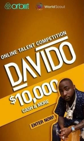 Davido announces his talent hunt show, winner to get N4.8M (Video)