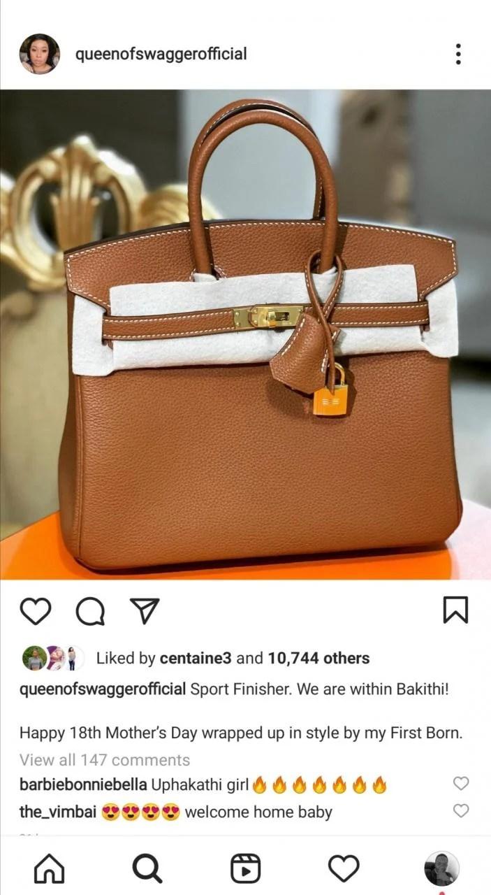 Zimbabwean Socialite, Pokello Nare Exposed For Buying A 'Fake Hermes Birkin Bag'