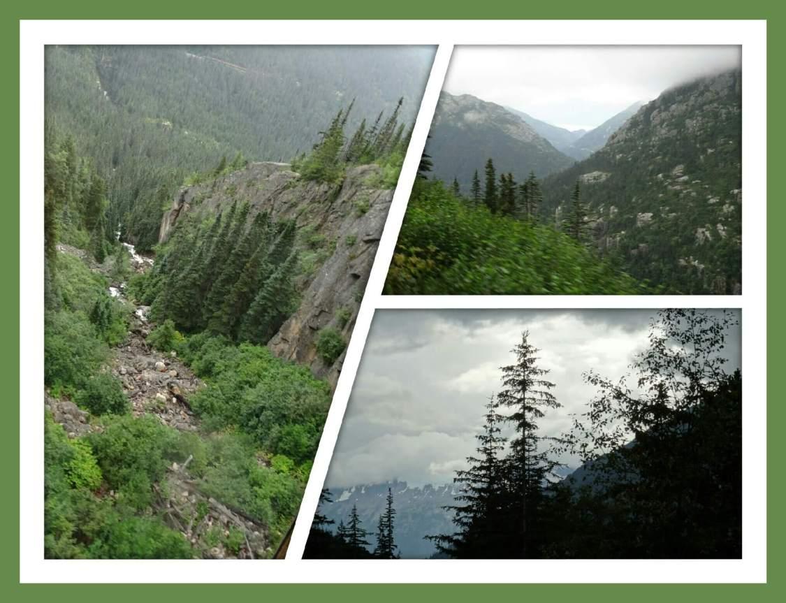 Impressionen von der Eisenbahnfahrt mit der White Pass & Yukon Railroad nach Skagway