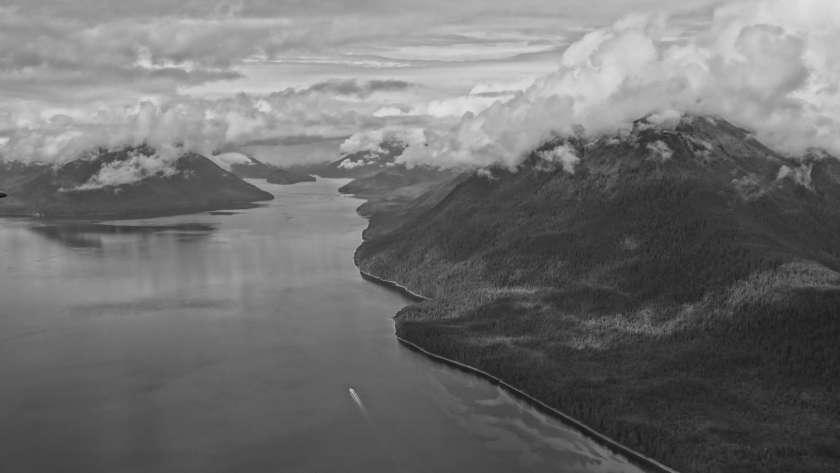 auf dem Flug von Gustavus (Glacier Bay National Park) nach Juneau (Alaska, USA)