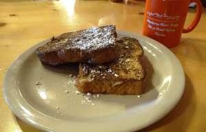 """Frühstück in der """"MacLaren River Lodge"""" bei Meile 42 am """"Denali Highway"""" (Alaska, USA)"""