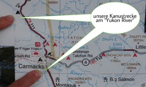 "unsere Kanustrecke am ""Yukon River"""