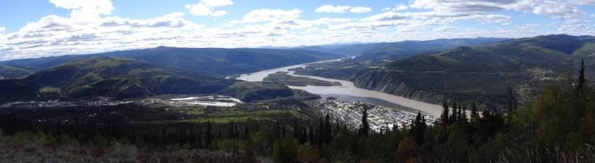 """am Aussichtspunkt """"Midnight Dome"""" (bei Dawson City, Kanada)"""
