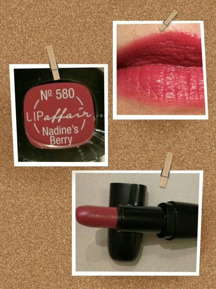 der »LIP affair Color & Care Lipstick« der Marke L.O.V. cosmetics® in der Farbe »580 Nadine's Berry«