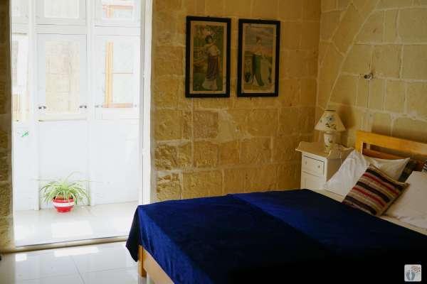 «Victoria»: Unterkunft «Maria's Town Guesthouse»: Zimmer {Reisetagebuch Malta}