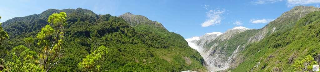 Rundblick auf den «Franz Josef Glacier» {Reisetagebuch «Roadtrip durch Neuseeland mit dem Bus»}