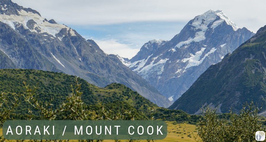 Bergkulisse {Reisetagebuch «Roadtrip durch Neuseeland mit dem Bus»: Aoraki-Mount Cook}