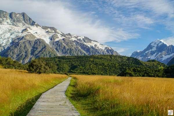 Hooker Valley {Reisetagebuch «Roadtrip durch Neuseeland mit dem Bus»: Aoraki-Mount Cook}