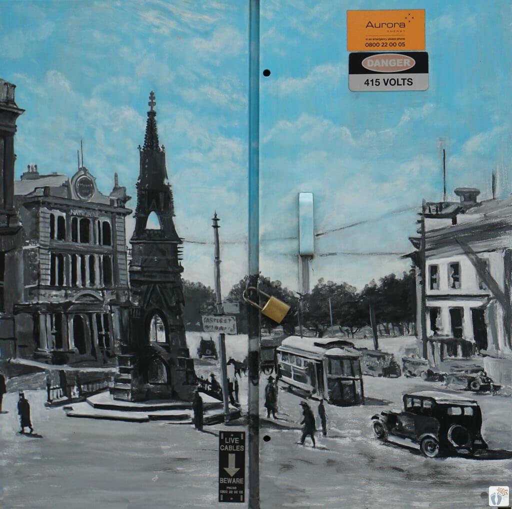 Street-Art {Reisetagebuch «Roadtrip durch Neuseeland mit dem Bus»: «Dunedin»}