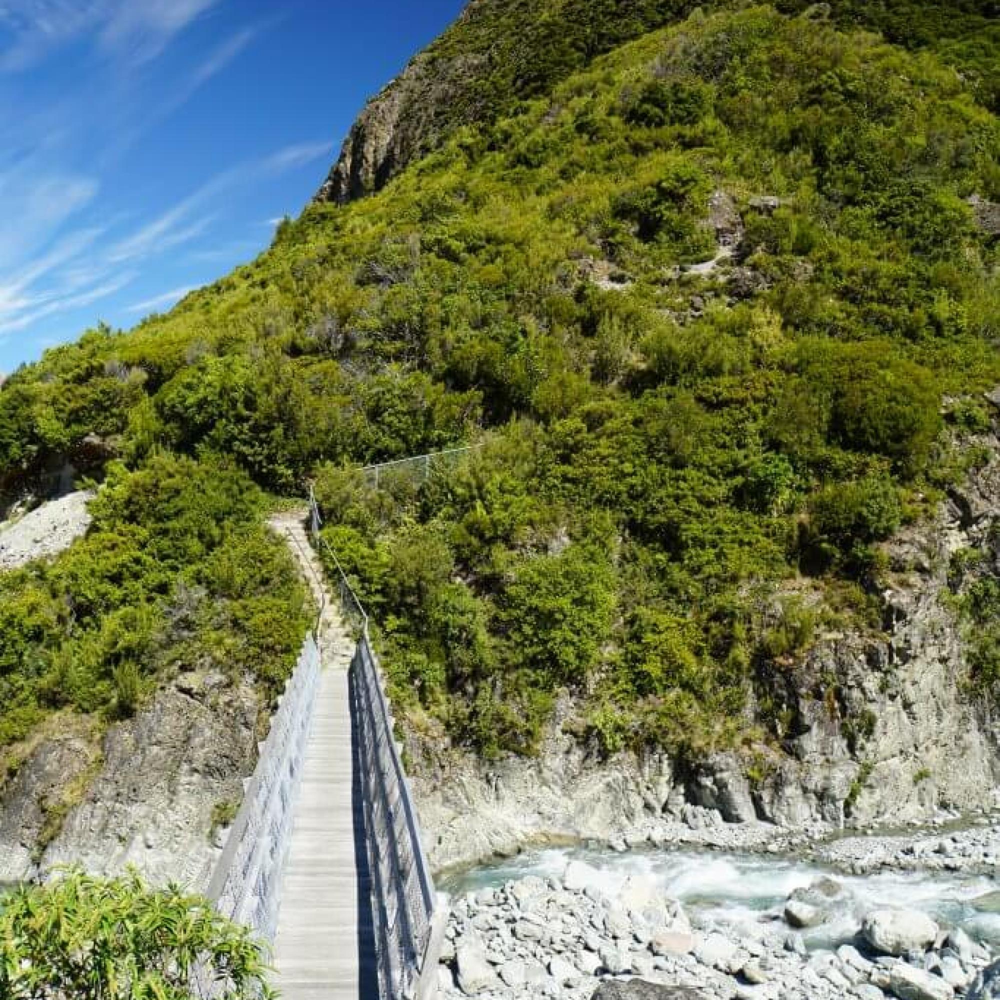Wanderung «Red Tarns Track»: Wanderweg {Reisetagebuch «Roadtrip durch Neuseeland mit dem Bus»: Aoraki-Mount Cook}