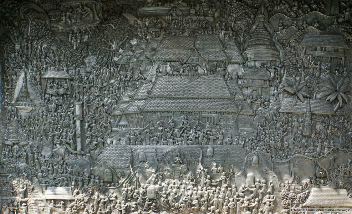 Wat Sri Suphan (silberner Tempel) in Chiang Mai: Verzierung im Detail (Reisetagebuch «Thailand als Alleinreisende ohne Roller entdecken»)
