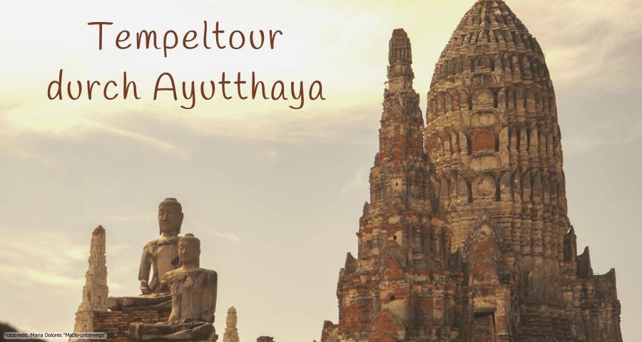 Ayutthaya: Besuch von sieben historischen Tempelanlagen (Thailand als Alleinreisende ohne Roller entdecken)