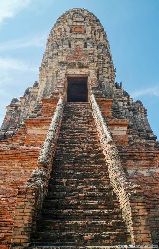 Wat Chai Watthanaram in Ayutthaya - Main Prang (Reisetagebuch «Thailand als Alleinreisende ohne Roller entdecken»)