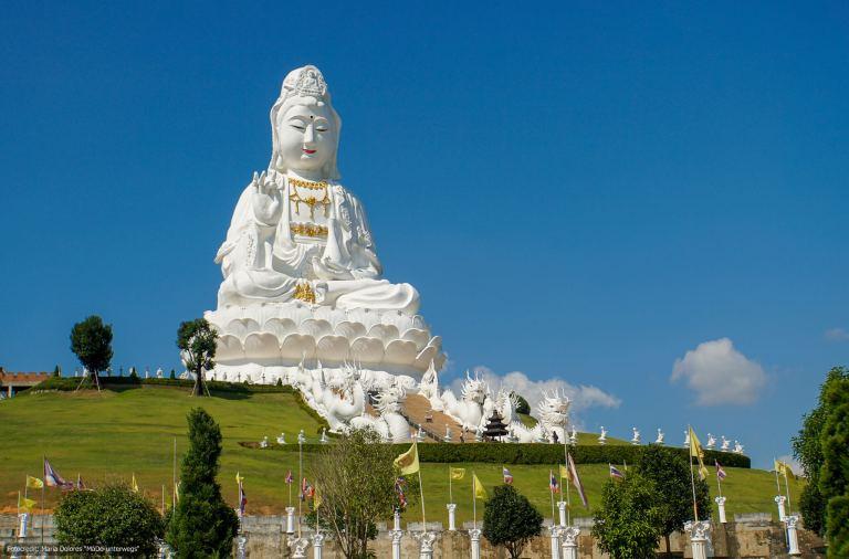 Wat Huay Pla Kang in Chiang Rai - Guan Yin-Statue (Reisetagebuch «Thailand als Alleinreisende ohne Roller entdecken»)