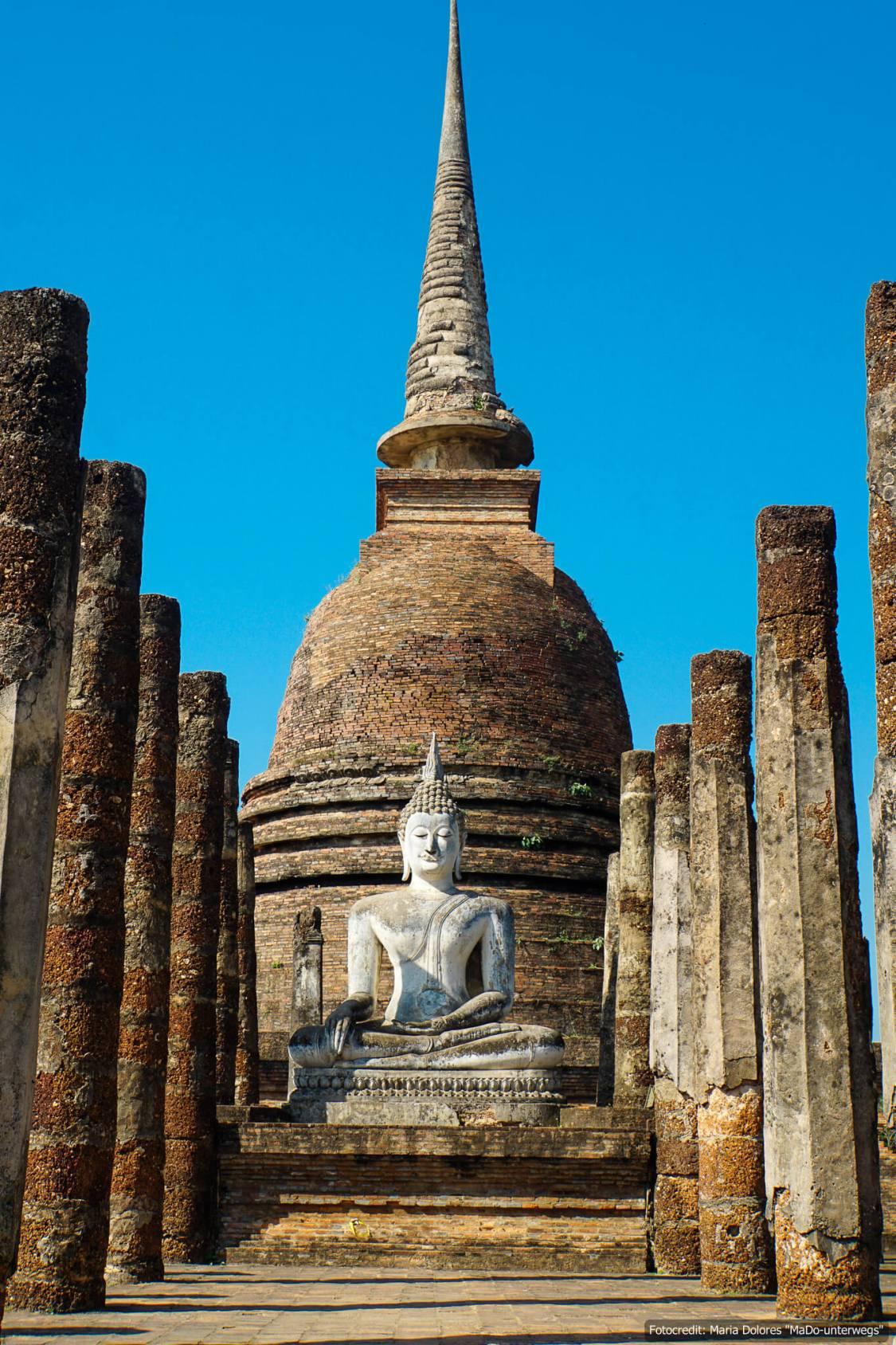 Wat Sa Si im Sukhothai Historical Park (Reisetagebuch «Thailand als Alleinreisende ohne Roller entdecken»)