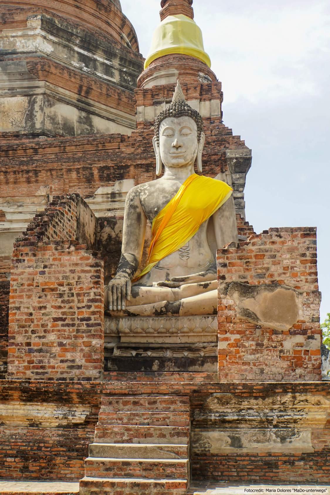 Wat Yai Chai Mongkon in Ayutthaya (Reisetagebuch «Thailand als Alleinreisende ohne Roller entdecken»)