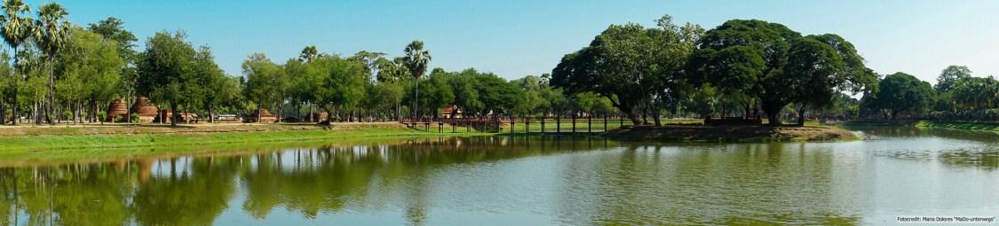 im Sukhothai Historical Park (Reisetagebuch «Thailand als Alleinreisende ohne Roller entdecken»)