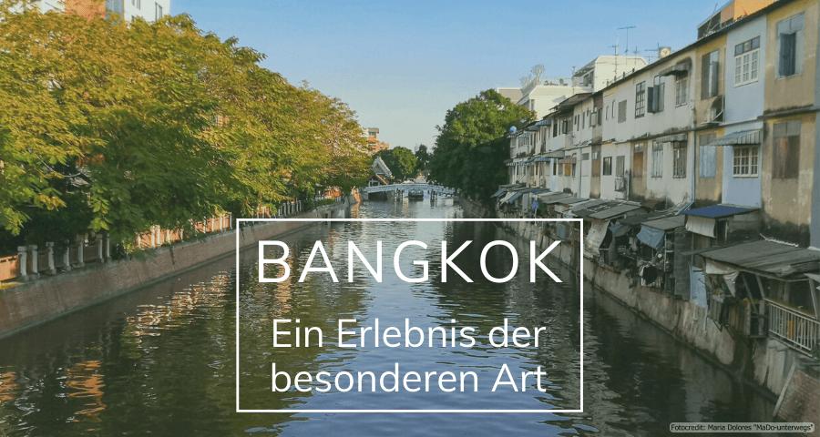 Blick auf den Khlong Rop Krung (Wassergraben) in Bangkok (Reisetagebuch «Thailand als Alleinreisende ohne Roller entdecken»)