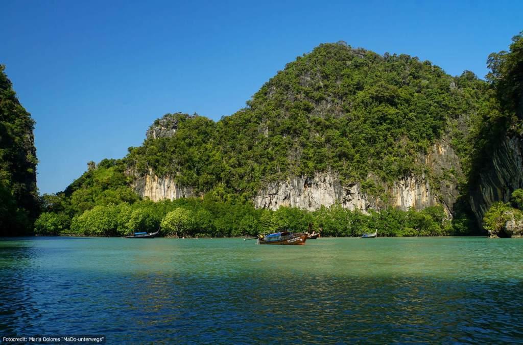 Lagune bei Koh Hong (Hong Island) in der Andamanensee (Reisetagebuch «Thailand als Alleinreisende ohne Roller entdecken»)
