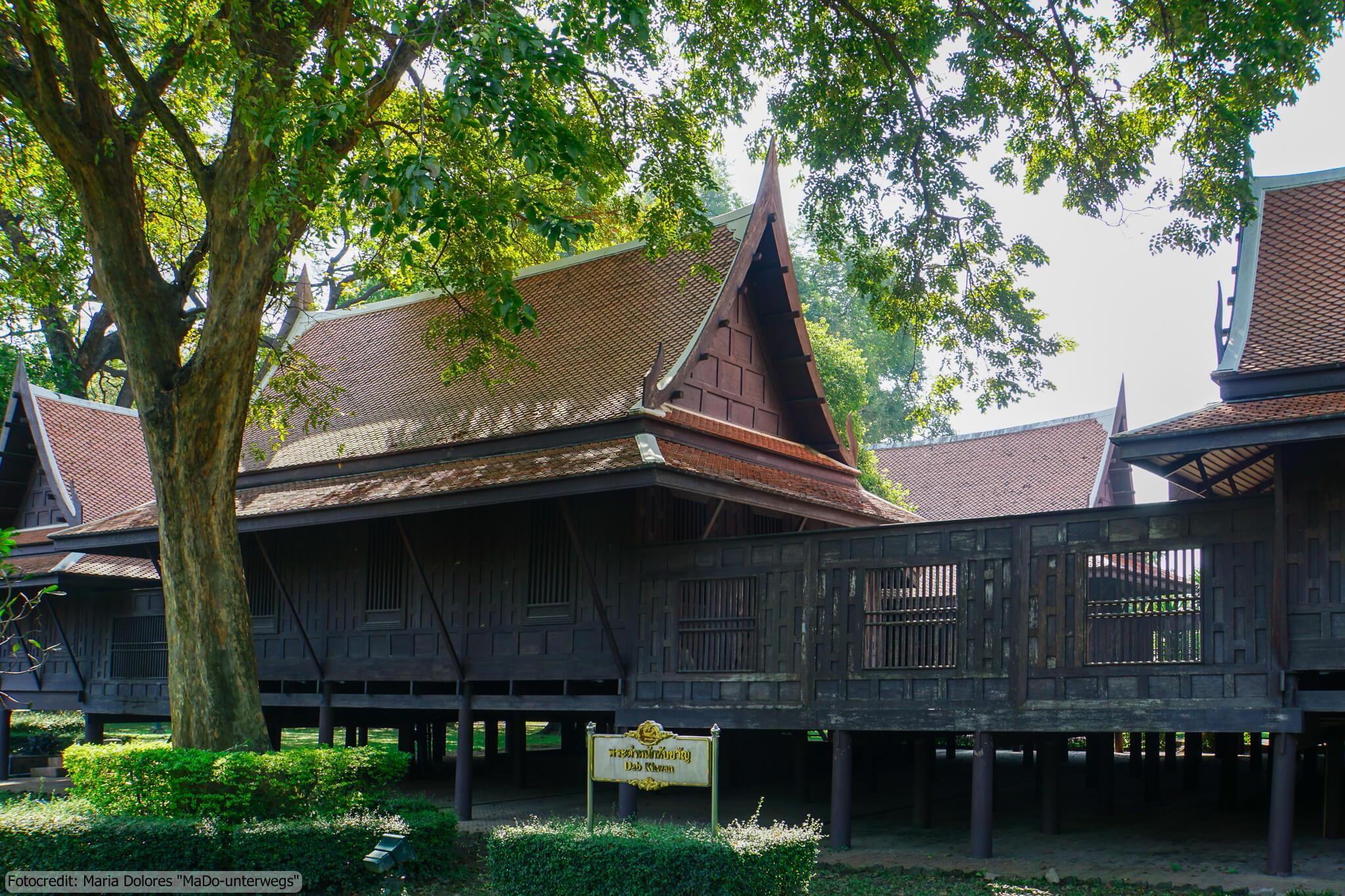 Sanam Chandra Palastanlage in Nakhon Pathom - Marirajrattaballang Residenz (Reisetagebuch «Thailand als Alleinreisende ohne Roller entdecken»)