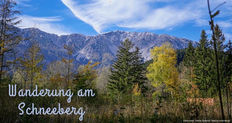 Wanderung am Schneeberg: Blick auf den Schneeberg