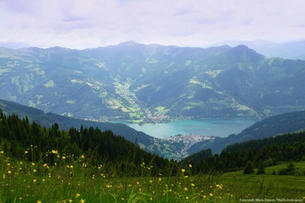 Blick auf Zell am See von der Schmittenhöhe [10 Tage Roadtrip Salzburg]