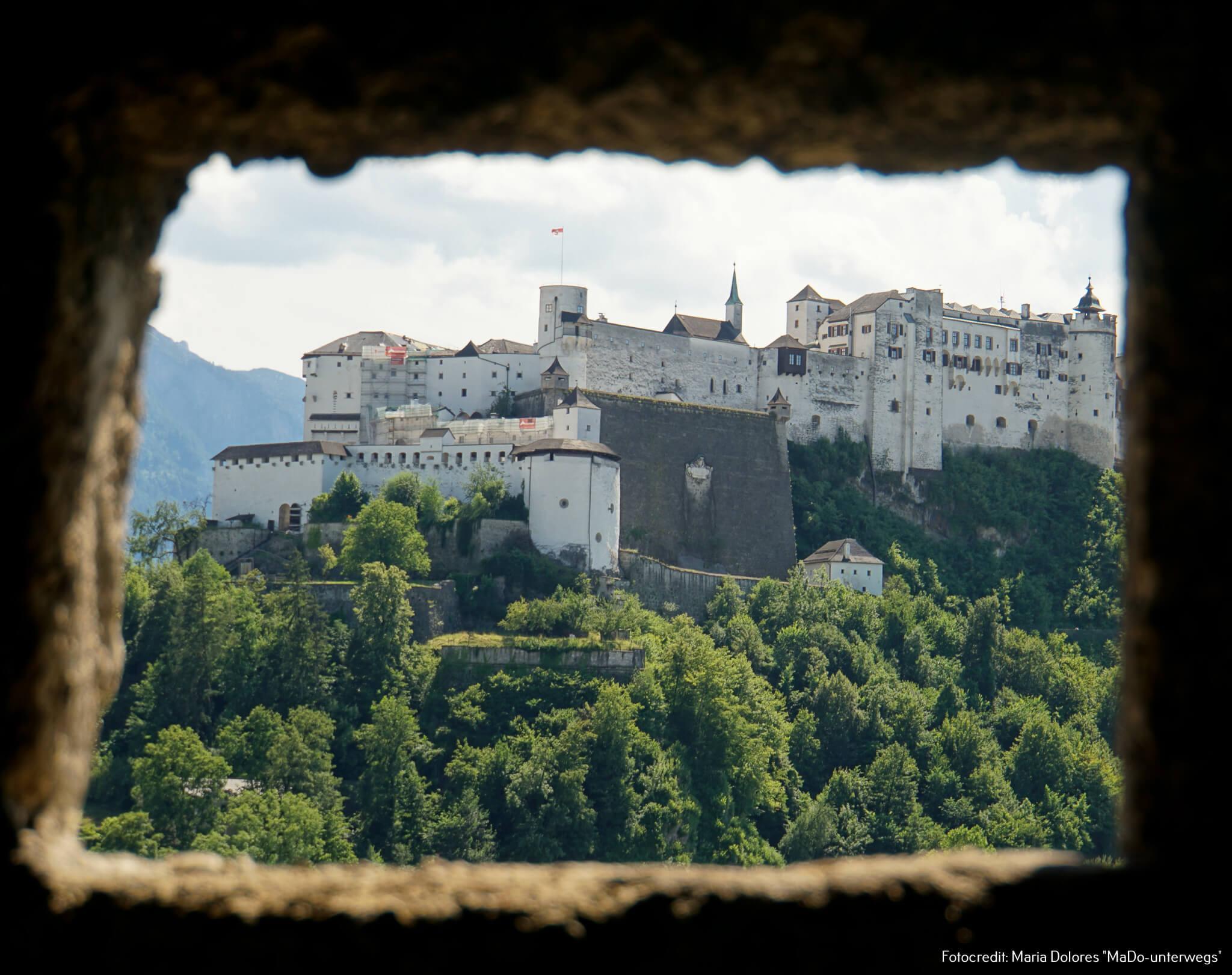 Festung Hohensalzburg vom Kapuzinerberg [10 Tage Roadtrip Salzburg]
