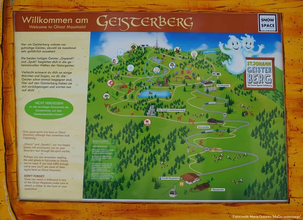 St. Johann im Pongau: Gernkogel: Geisterberg - Informationstafel [10 Tage Roadtrip Salzburg]